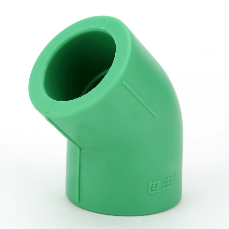 Multi Color Ppr Pipe Fittings , Injection Molding 45° Elbow Eco Friendly